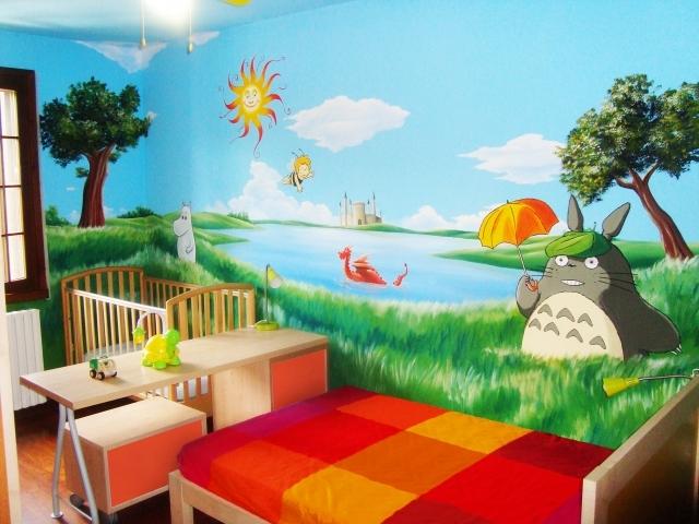 Murales Cameretta Bambino Personaggi Disney Anime Paesaggi